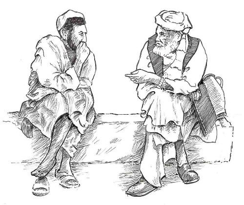 Pashun men in conversation